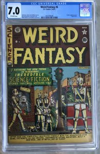 Weird Fantasy #6 (1951) CGC 7.0 -- Atomic explosion panel; Robot cover; EC