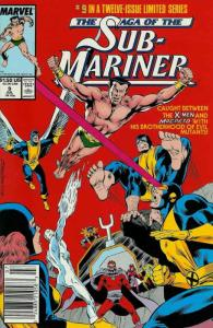 Saga of the Sub-Mariner #9 (Newsstand) VF; Marvel   save on shipping - details i