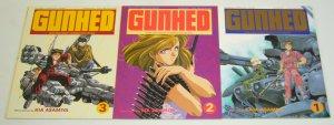 Gunhed #1-3 VF/NM complete series - kia asamiya - viz select comics manga set 2
