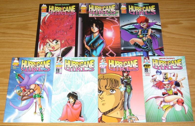 Hiroshi Yakumo's Hurricane Girls #1-7 VF/NM complete series - antarctic press