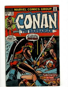 Conan The Barbarian #23 FN/VF Marvel Comic Book Barry Smith Kull King Sword NP16