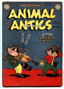 ANIMAL ANTICS #20 comic book 1949-RACCOON KIDS-VIOLIN COVER-GOLDEN AGE