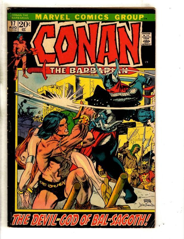 Conan The Barbarian # 17 VG Marvel Comic Book King Kull Red