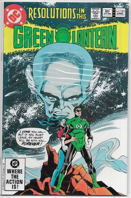 Green Lantern   vol. 2   #151 VF Corps, Wolfman/Staton, Goldface