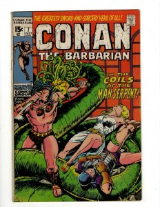 Conan The Barbarian # 7 FN Marvel Comic Book Barry Smith Kull King Sword NP16