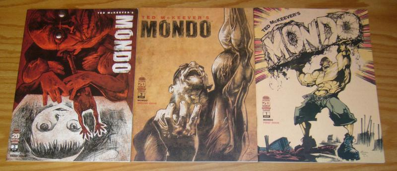Ted McKeever's Mondo #1-3 VF/NM complete series - enormous preview - panzerfaust