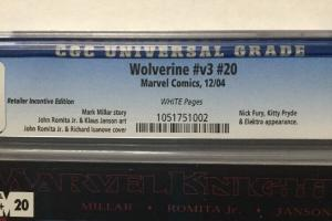 Wolverine 20 Retailer Incentive Edition Cgc 9.6 White Pages