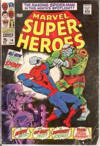 MARVEL SUPER HEROES 14 G-VG SPIDERMAN  May 1968 COMICS BOOK
