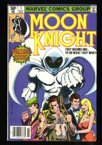 Moon Knight #1 FN+ 6.5 Newsstand Variant