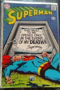 Superman #213(DC,1969) Condition GD/VG