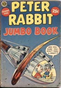PETER RABBIT JUMBO BOOK-1954-AVON-SPACE MOUSE-JESSE JAMES-ER KINSTLER ART-RARE