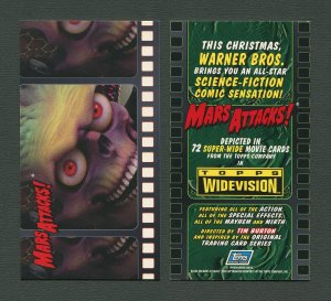 1996 Mars Attacks!  WideVision Promo Card  MINT