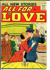 All For Love #2 1957-Prize-provocative-Joe Orlando-Jack Kirby art influence-VG