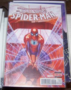 Amazing Spider-Man #  2( 2015 Marvel)  alex ross cover  SILK +SPIDERWOMAN +2099