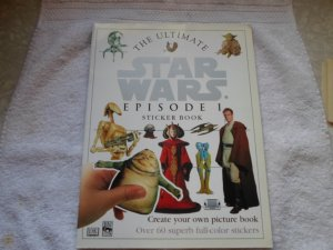LUCAS BOOKS 1999 THE ULTIMATE STARS WARS EPISODEI 1 STICKER BOOK NM