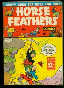 Horse Feathers Comics #1 1945- Basil Wolverton- Lev Gleason- G/VG