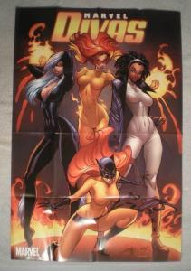 MARVELS DIVAS Promo Poster, Femmes, 24x36, 2009, Unused, Black Cat, Tigress