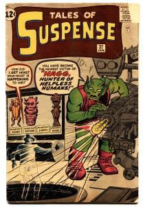 TALES OF SUSPENSE #37 comic book-1962-STEVE DITKO-PRE-HERO MARVEL-VG-