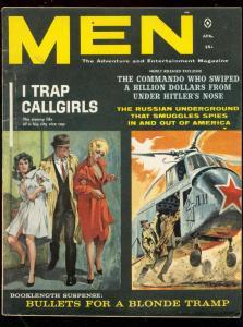 MEN MAGAZINE APRIL 1961-DOLORES ERICKSON-PULP THRILLS VG