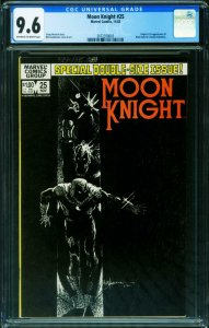 Moon Knight #25 CGC 9.6 1ST BLACK SPECTRE 2072358003