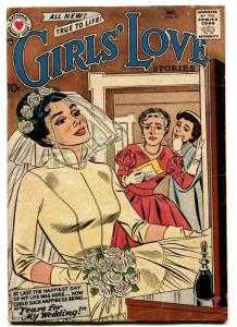 Girls' Love Stories #51 comic book 1957- DC Romance- Bride cover-