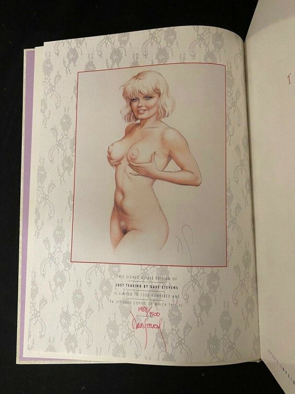 Just Teasing Hardcover Signed by Dave Stevens 1991