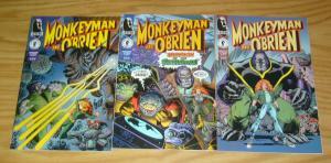 Monkeyman & O'Brien #1-3 VF/NM complete series - art adams - dark horse comics 2