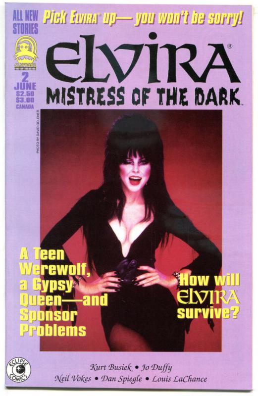 ELVIRA Mistress of the Dark #2, VF/NM, Claypool, 1993, more indies in store