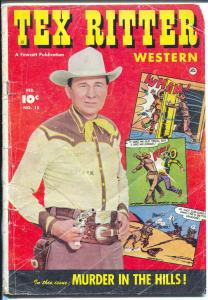 Tex Ritter Western #15 1953-movie photo cover-cowboy thrills-G