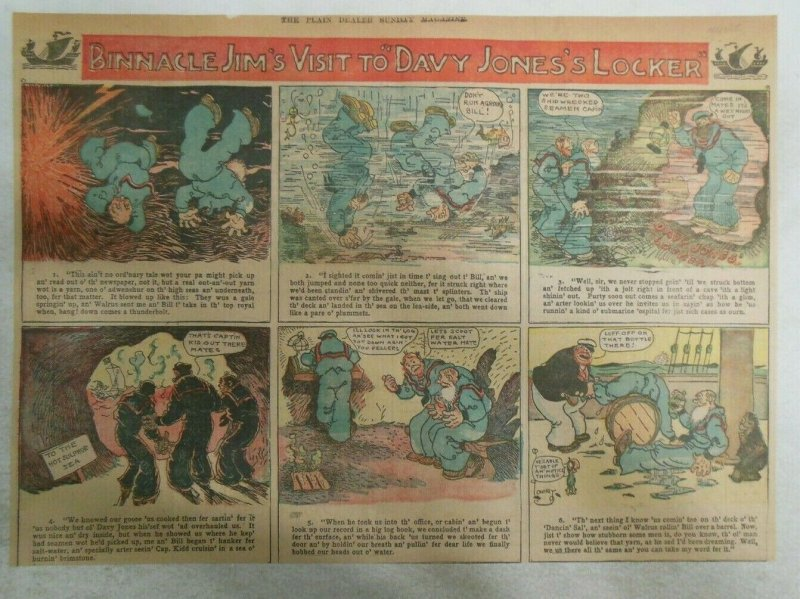 Binnacle Jim Sunday Page by Lowry  from 12/25/1905 Half Full Page Size!