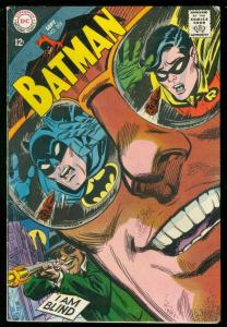 BATMAN #220 1968-I AM BLIND-DC COMIC ROBIN ALFRED ISSUE VG