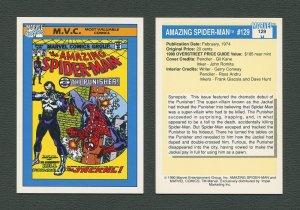 1990 Marvel Comics Card  #129 (Amazing Spiderman #129 Cover) NM-MT+