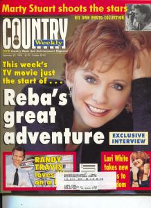 Country Weekly-Reba McEntire-Lori White-Marty Stuart-Blackhawk-Sept-1998
