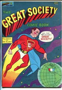 Great Society #10135 1966-Parallax-LBJ as superhero-Teddy Kennedy-VF