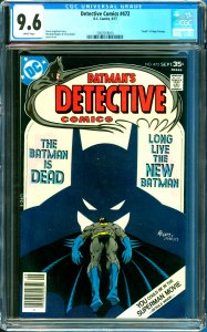 Detective Comics #472 CGC Graded 9.6 Death of Hugo Strange