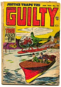 Justice Traps The Guilty #58 1954- Golden Age Crime G