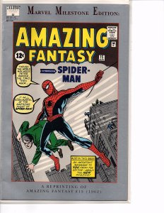 Marvel Comics Marvel Milestone Edition: Amazing Fantasy #15 Stan Lee Steve Ditko