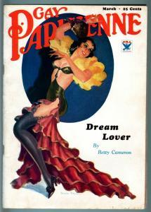 GAY PARISENNE-1934 MARCH-SPICY GOOD GIRL ART PULP-PETER DRIBEN COVER-RARE! VF