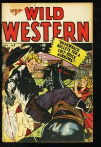 WILD WESTERN #4-TWO_GUN KID-KID COLT-1948-C.C. BECK G/VG