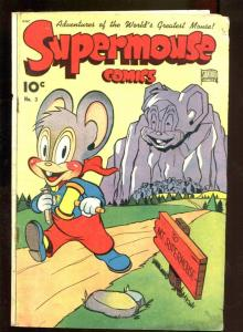 SUPERMOUSE #3 1949-FUNNY ANIMAL-FRANK FRAZETTA TEXT ART VG+