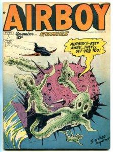 Airboy Comics Vol 6 #10 1949- Golden Age- Sci-fi cover- HEAP FN