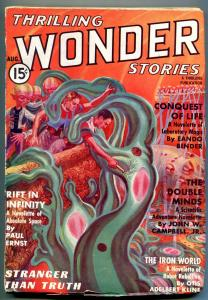 Thrilling Wonder Stories Pulp August 1937- Rift in Infinity- Iron World VG