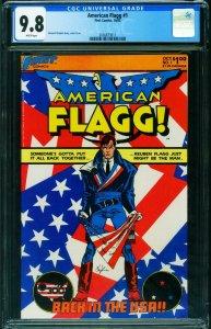 American Flagg #1 CGC 9.8 1983-Howard Chaykin-1st issue 2036873011