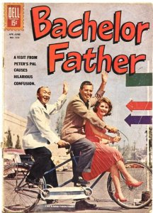BACHELOR FATHER-FOUR COLOR #1332-DELL-1962-JOHN FORSYTHE-NOREEN COCHRAN
