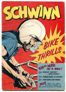 Schwinn Bike Thrills 1958 BICYCLE COMICS SPEED RECORDS G/VG