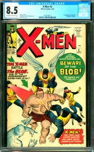 X-Men #3 CGC Graded 8.5 1st appearance of the Blob  (Frederick J. Dukes)