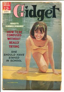 Gidget #2 1966-Dell-Sally Field photo cover-TV series-VG