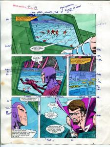 Justice Machine #24 Page #28 1988 Original Color Guide