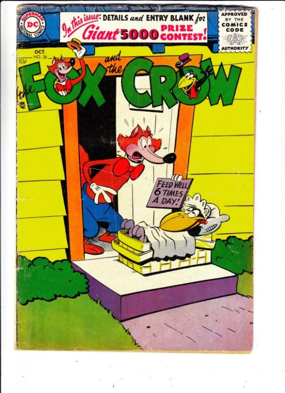 Fox and the Crow, The #36 (Oct-56) VG/FN- Mid-Grade Fox and Crow