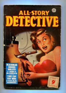 ALL-STORY DETECTIVE 1950 #1-POPULAR PUBLISHING-JOHN D. MACDONALD-VG